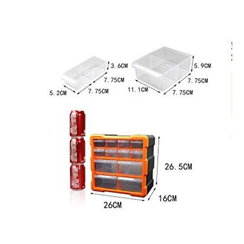 Werkzeugkoffer, hochwertiger Werkzeugkoffer, Werkzeugkoffer, Teilkasten-Klassifizierung von Ark Multi-Gitter Schubladentyp, Bausteinkasten