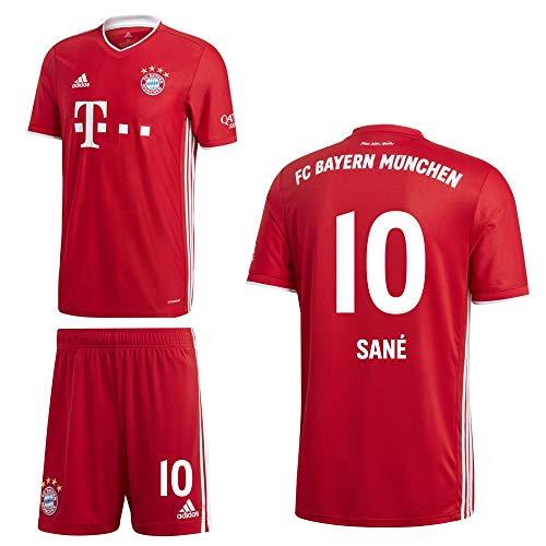 adidas FCB FC Bayern München Home Kit Heimset 2020 2021 Kinder Sané 10 Gr 140