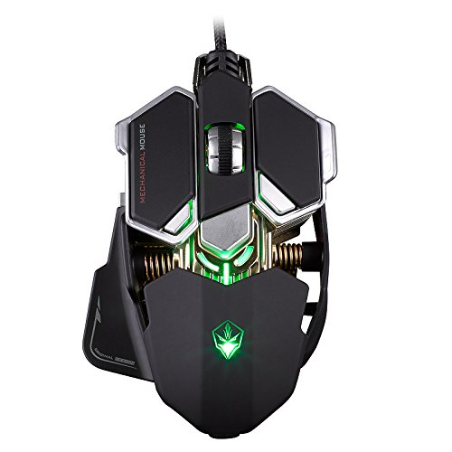 XINKSD G10 4000 DPI 10 Buttons LED Optical USB Wired Mechanical Gaming Mouse,...