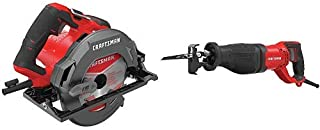 CRAFTSMAN 7-1/4-Inch Circular Saw, 15-Amp with Reciprocating Saw, 7.5-Amp (CMES510 & CMES300)