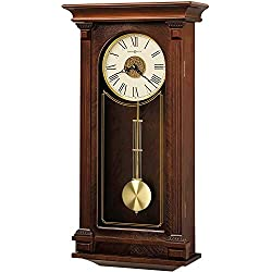 Howard Miller Sinclair Wall Clock 625-524 – Cherry Wood Bordeaux with Quartz, Triple-Chime Movement