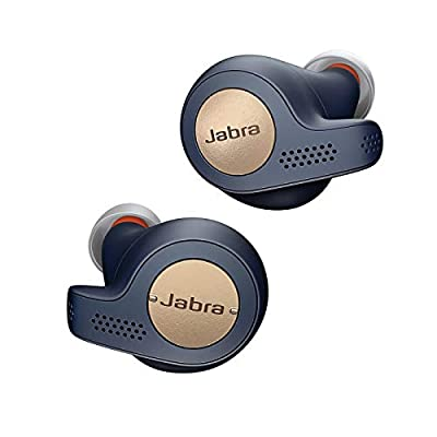 Jabra Elite Active 65t Earbuds - Passive Noise Cancelling Bluetooth Sports Earphones with Motion Sensor for Fitness Tracking - True Wireless Calls and Music - Copper Blue from Jabra