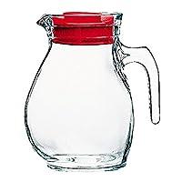 bormioli rocco bor103 accessori cucina brocca caraffa da tavola in vetro 144cl con tappo rosso