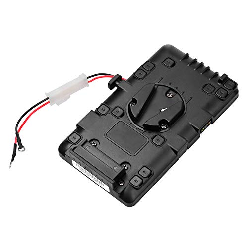 Zwbfu V-Mount Battery Power Plate with Double D-Tap Connectors Replacement for BMPCC 4K/6K Cameras/Video Cameras/LED Photography Light with V-lock Batteries