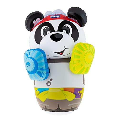 Chicco Panda Boxing , Saco de Boxeo Infantil Con Disvertido Diseño De Oso Panda, Base Basculante Con Agua, No Cae Al Suelo, Interactivo
