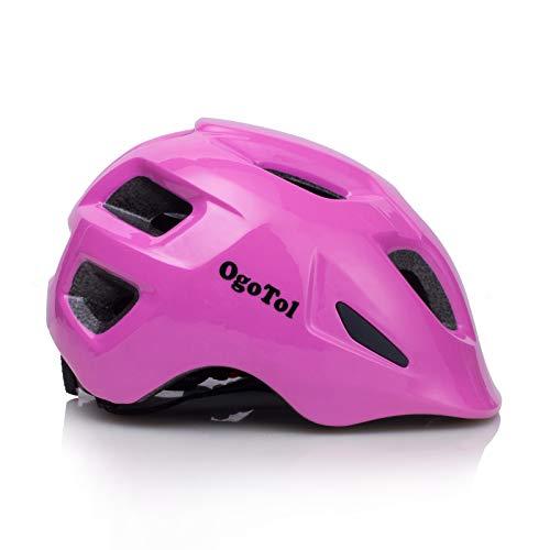 Ogotol Kids Bike Helmet Skateboard Cycling Helmet Adjustable Lightweight Multi-Sport Helmet with Removable Liners for Boys and Girls Helmet (Pink, S(18.9-20.5 inch))