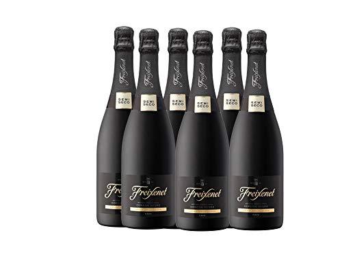 Freixenet cordon negro semiseco botella 75 cl. - Pack de 6 botellas - 4500ml