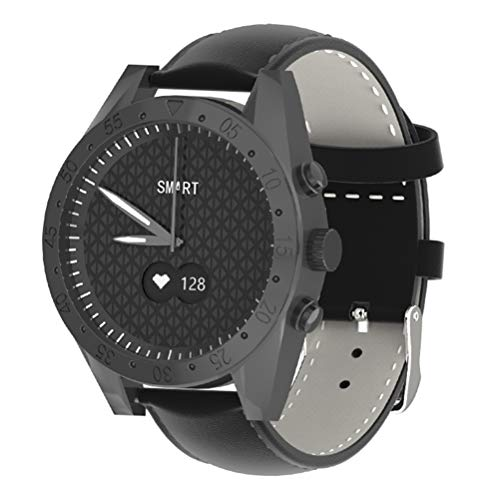 WY-H Reloj Inteligente T4, rastreador de Actividad Impermeable para Hombres, rastreador de Actividad, podómetro para monitorizar la presión Arterial del Ritmo cardíaco, para iOS y Android