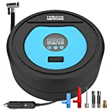 Portable Air Compressor (12' Power Cord), Tire Inflator, Air Compressor Portable, Tire Pump, (Easily Reach All Tires), Tire Inflator With Pressure Gauge (Digital Display), Air Pump for Car Tire