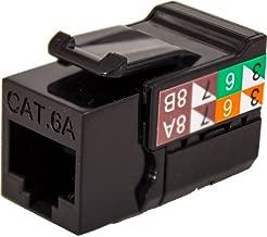 CAT6A RJ45 Keystone Jack, V-Max Series - Black Color - (50 pack)