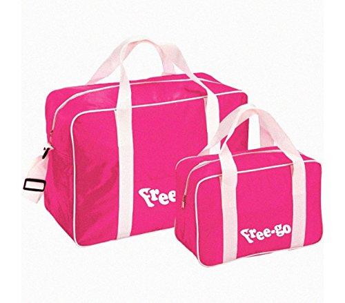 MEDIA WAVE store Set 2 borse termiche FREE-GO con 2 manici e tracolla GB1211002 TINTA UNICA. (Fucsia)