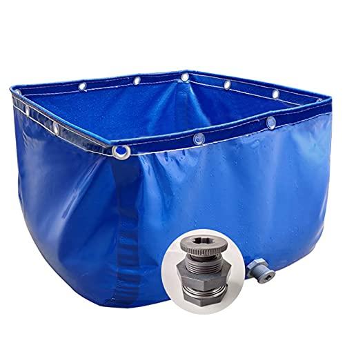 XYUfly20 Faltbarer Fischteich (ohne Halterung) Tülle Rostfreier Und Wasserdichter Hochleistungswassertank 0,5 Mm Dicker, Reißfest Wird Zur Wasserspeicherung Und Fischzucht...