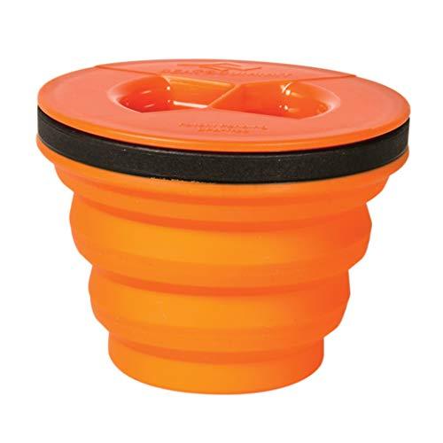 Sea to Summit X-Seal Go Pliable récipient Bol de Camping avec Couvercle hermétique, Mixte, Orange