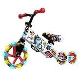 Small Rider Turbo, Draisienne Bébé, Velo sans Pédales, 3 Roues LED PU Transformer, Siège et Guidon Réglables, Cadeau d'anniversaire, pour Enfants de 1.5+ Ans (Rouge)