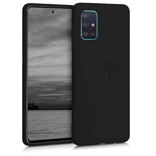 kwmobile Funda Compatible con Samsung Galaxy A51 - Carcasa de TPU Silicona - Protector Trasero en Negro Mate