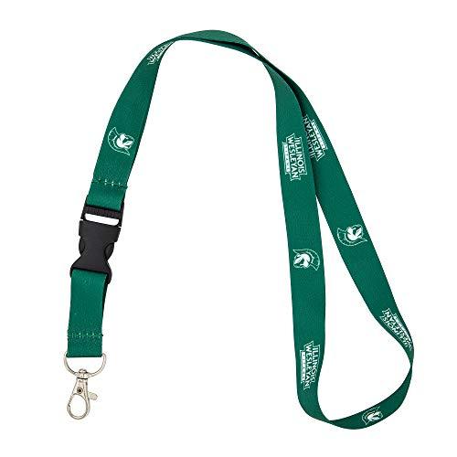 Illinois Wesleyan University IWU Titans Car Keys ID Badge Holder Lanyard Keychain Detachable Breakaway Snap Buckle (Green)
