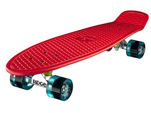 Ridge Big Brother Large Retro Cruiser Skateboard, Unisex, Rojo/Azul Claro, 69 cm