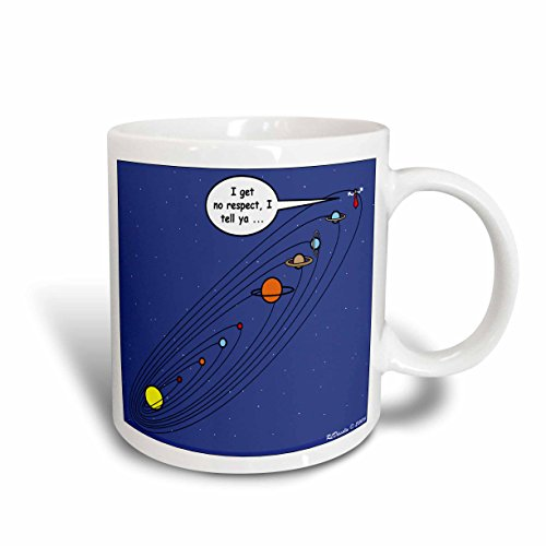 3dRose Pluto Loses Planet Status Ceramic Mug, 15 oz, White