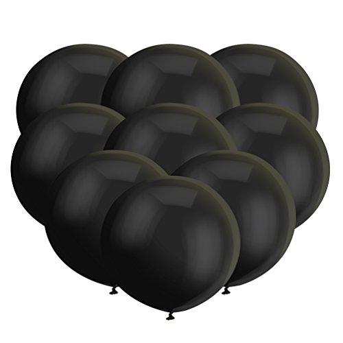 Globos negros grandes de látex negro de 45,7 cm, globos negros grandes para sesiones de fotos, cumpleaños, bodas, fiestas, día del padre, Halloween, fiestas, decoraciones