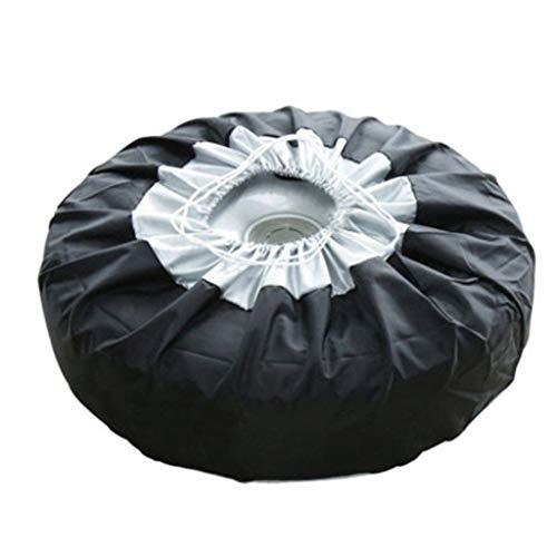 Lunji Funda para neumático de Coche, Bolsa de Almacenamiento, Bolsa de Transporte de poliéster, Fundas de protección para Ruedas de Coche, 4 Estaciones