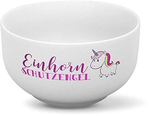 Drucksaal Müslischale-Müslischalen-mit-Spruch-Sprüchen-Bedruckt Einhorn Schutzengel Schon ab 1 Stck. erhältlich