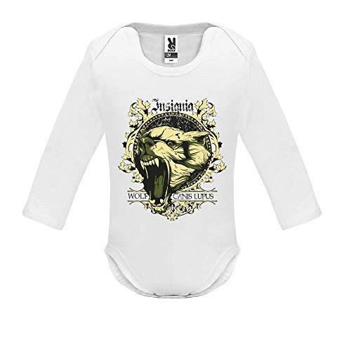 Body bébé - Manche Longue - Canis Lupus - Bébé Garçon - Blanc - 3MOIS