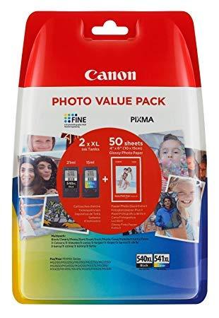 2 Original XL Drucker Patronen für Canon Pixma MX525 525 MX395 395 MX455 455 (XL Black/XL Color) Tintenpatronen