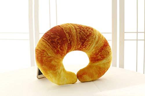 Emulational Garnalen U-Vormige Knuffels, Creatieve 3D Croissant Nekkussen, Reiskussen Pauze Kussen Kussen, Woondecoratie 35Cm