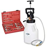 FIRSTINFO 12.5L Pneumatic/Manual ATF Refill System Dispenser Automatic Transmission Fluid Oil & Fluid Pump Set with 15-Piece ATF Filler Adapters