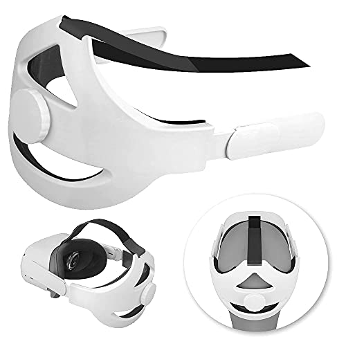 VR Auriculares Cojín de Cabeza All-In-One Ajustable Realidad Virtual Auriculares Correa para Oculus-Quest 2 Cojín de Cabeza Correa Protectora de la Cabeza Diadema Virtual