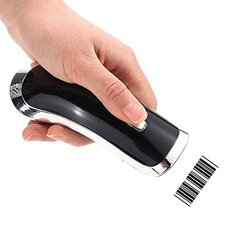 LIJIANZI Worth having - Lector de códigos de barras láser de alta velocidad de alta velocidad 2.4G, sin cable 1D / 2D Escáner de código de barras con USB Receptor para Tienda, Supermercado, Almacén