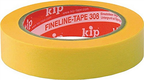 KIP 308 WASHI-TEC® PREMIUM PLUS - gelb 25mm x 50m