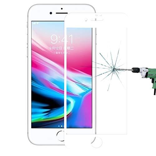 Vervangende Screen Protector Voor iPhone 8 Plus Volledige Dekking Mobiele Telefoon Fron Screen Protector Zwart/Wit Kleur 0.26mm 9H Oppervlaktehardheid 2.5D Explosiebestendige Zeefdruk Gehard Glas Scherm Fi, Kleur: wit