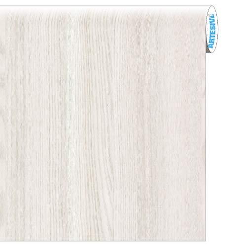 Artesive WD-001 Rovere Bianco Opaco larg. 60 cm AL METRO LINEARE - Pellicola Adesiva in vinile effetto legno per interni per rinnovare mobili, porte e oggetti di casa