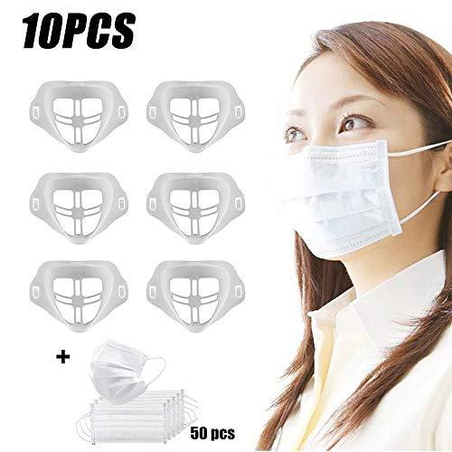 QOUP Gesichtsschutzausrüstung innere Stützrahmen, 3D-Silikon-Bracket, Erstellen Mehr Breathing Space, Wiederverwendbare und waschbare, Geeignet für Erwachsene