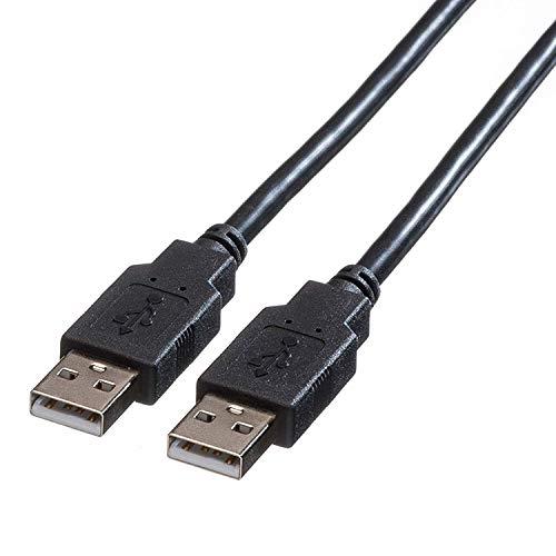 ROLINE USB 2.0 Kabel | A-Stecker auf A-Stecker | HighSpeed Datenkabel | Schwarz 1,8 m