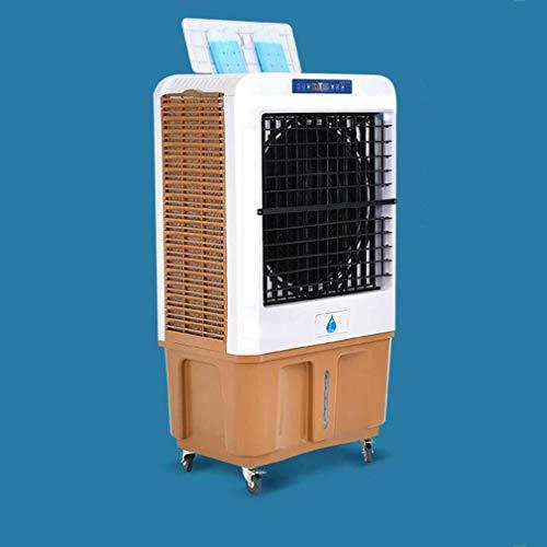 Qinmo Verdampfungskühlvorrichtungen Mobilklimageräte, tragbare Kühlbox 90L großen Wassertank Design-Industrieanlage Kühlung mit Vier Casters Befeuchter for das ganze Haus oder Büro