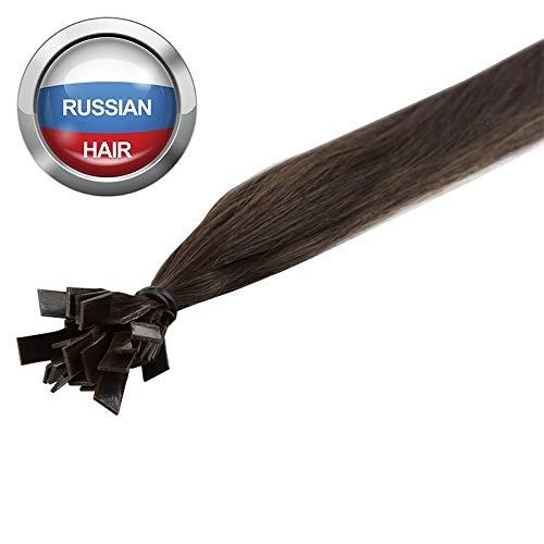 Extensions Cheveux Kératine 25 mèches russes 0,8gr Noisette 50cm