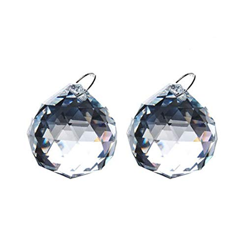 H&D Kristallkugel Kristal Prismen für Lampe Kronleuchter Sonnenfänger zum Aufhängen 2 Stück