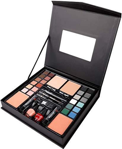 Famyfamy Multi-Usage Maquillage Kit, 24 Couleurs Fard à Paupières Maquillage Palette Ensemble avec Profession Maquillage Brosses Mascara Eye-Liner Rouge à Lèvres Set Yeux Ombre Palettes