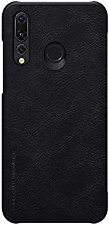 Nillkin Huawei Nova 4 Flip Mobile Cover Qin Flip Series Leather Case - Black