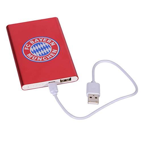 Bayern München kompatibel Powerbank + Sticker München Forever, Energiespeicher für Handy, Telefon