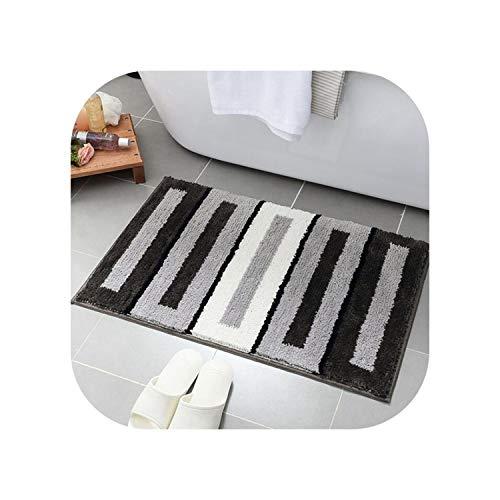 hotmoment-uk Moderne geometrische Beflockungs-Fußmatten für Zuhause, Schlafzimmer, Badezimmer, Küche, Matten für den Bodenbereich, Teppiche, weicher Teppich, 3,50 x 80 cm