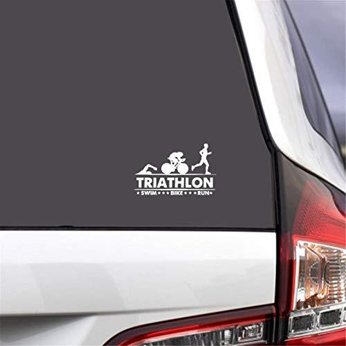 Auto Aufkleber Katze 17,5 Cm x 11 Cm Triathlon Schwimmen Bike Run Athlet Sport Stick Aufkleber Kofferraum Dekorieren Zubehör Aufkleber für auto laptop fenster aufkleber