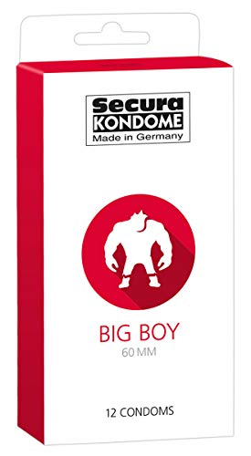 Secura Big Boy 12er Kondome - 12 breite Präservative zur Verhütung ohne Hormone für Männer, transparent