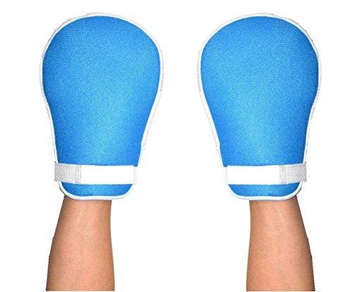 介護ミトンWorldBridge軽量・メッシュ素材で通気性良左右兼用介護手袋介護用ミトンミトン自傷ひっかき防止説明書付き(マジック2枚入)