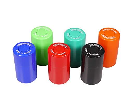 Tarro de plástico para hierbas y tabaco, cierre al vacío, 200 ml