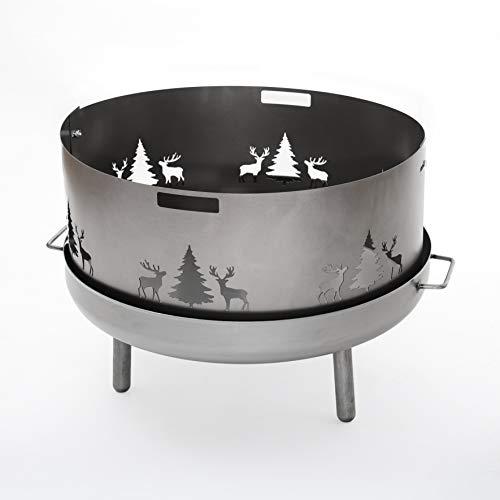 Czaja Stanzteile Funkenschutz mit Wildmotiv für alle Feuerschalen Ø55cm