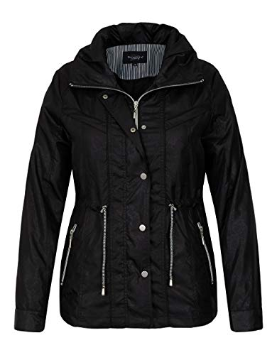 Bexleys Woman by Adler Mode Damen Übergangsjacke mit dezenter Prägung schwarz 48
