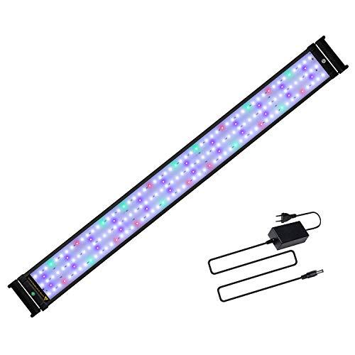 JOYHILL Illuminazione per Acquario, Plafoniera LED Acquario Dolce, Lampada LED per Acquario Luce Acquario 90-110cm